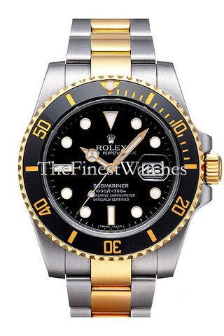 Rolex Submariner Blue Dial Gold And Steel Watch 116613 ()