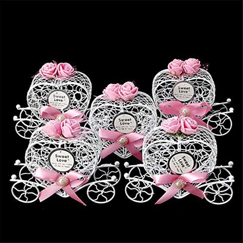 cuigu 5unidades caja de bombones, forma de carroza de Cenicienta de cajas de dulces para cumpleanos Boda, color No.5 Einheitsgroße