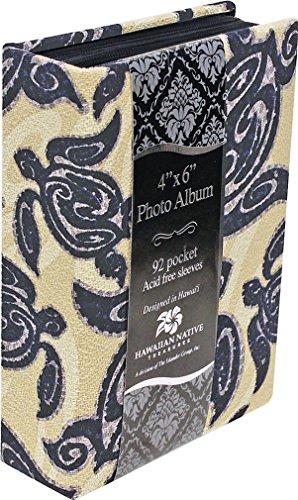 [해외]아일 랜더 사진 앨범 패브릭 커버 92 보기 부족 Honu / Islander Photo Album Fabric Covered 92 View Tribal Honu