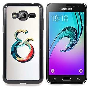 Ihec Tech Y Océano Azul Rojo Ballena Gris Amarillo / Funda Case back Cover guard / for Samsung Galaxy J3 GSM-J300