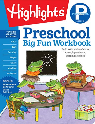 Preschool Big Fun Workbook HighlightsTM Big Fun Activity Workbooks