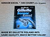 Gillette Sensor Excel - 100 Count (10 x 10 Pack)