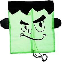 "Halloween Black Frankenstein Drawstring Backpack Reusable Treat Bag - 16"" x 13"""