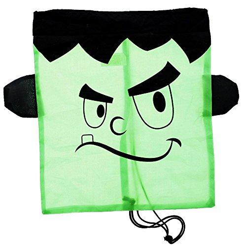 Halloween Black Frankenstein Drawstring Backpack Reusable Treat Bag - 16