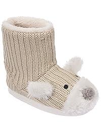Trespass Childrens Girls Sootie Teddy Bear Slipper Boots