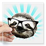 CafePress - Cute! Hipster Sloth Sticker - Square Bumper Sticker Car Decal, 3