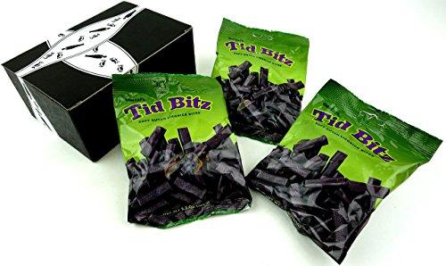 Gustaf's Tid Bitz Soft Dutch Licorice Bites, 5.2 oz Bags in a Gift Box (Pack of 3) (Box Dutch)