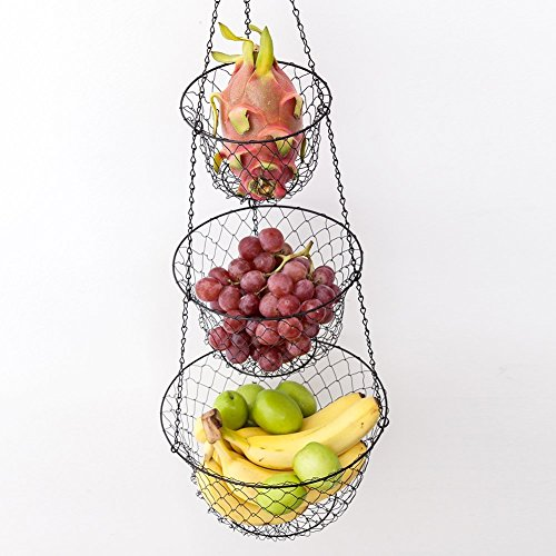 Tai Ying 3 Tier Wire Hanging Fruit Or Vegetable Kitchen