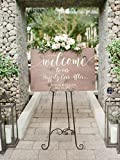 Rustic Wedding Welcome Sign | Wood Wedding Welcome Sign | Welcome Wedding Sign | Wooden Welcome Sign | Wedding Welcome Sign