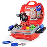 Best Tool Set With Cases - Gizmovine Pretend Play Tool Kit Set with Carry Review