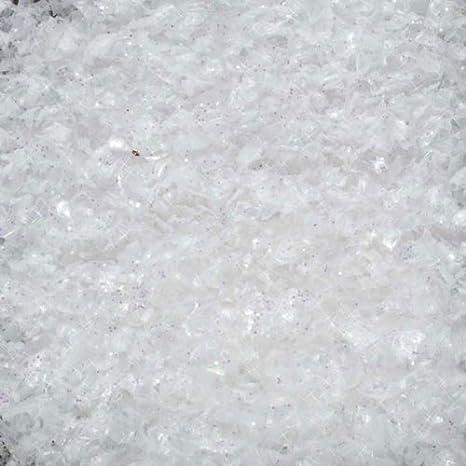 3b07022e35ef7 Dekoschnee Schnee Kunstschnee Streuschnee weiß irisierend mit Glitter  Glitzer 1l 1 Liter