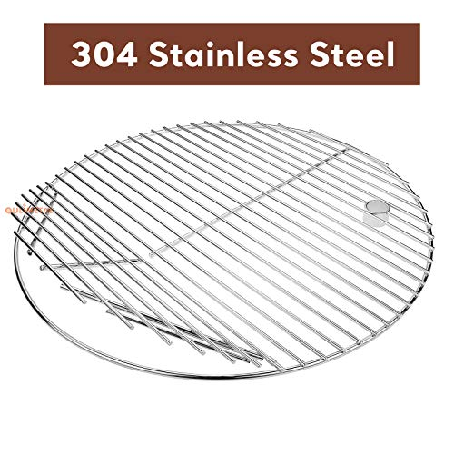 QuliMetal 19.5 Inch SUS 304 Round Cooking Grate Cooking Grid for Akorn Kamado Ceramic Grill, Pit...