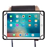 ZugGear Universal Tablet Headrest Mount, Car Headrest Mount for Kids, Lightweight Strap Case Headrest Cradle Car Mount for Ipad Samsung 9.7 inch to 10.5 inch Tablet