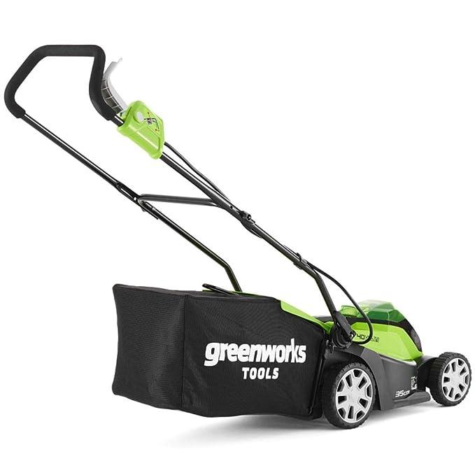 Greenworks 2501907 Cortacésped Inalámbrico, 40 V, Verde, 35cm