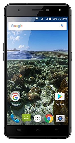 AZUMI Kinzo A55 OLi - 5.5'' High Definition AMOLED Display 32GB +3GB 4G LTE US GSM Unlocked Dual Sim Smartphone Black (AT&T and T-Mobile Compatible) by Azumi