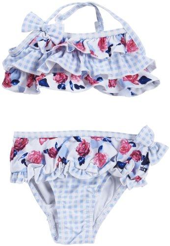 Juicy Couture Baby Baby-Girls Newborn Bikini, Small Rose Print, 3-6 Months ()