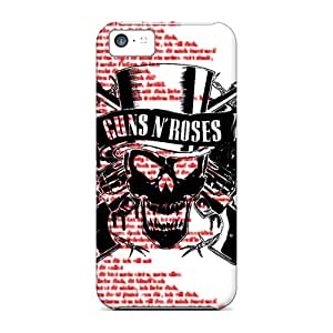 Shockproof Hard Phone Cover For Iphone 5c With Unique Design HD Guns N Roses Series No1cases