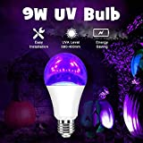 Neporal LED Black Light Bulb,9W A19 UV Blacklight