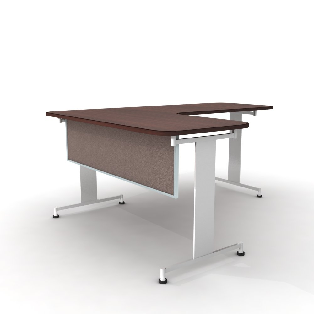 Obex 18X42A-A-LA-MP 18'' Acoustical Desk and Table Mounted Modesty Panel, Latte, 18'' x 42''