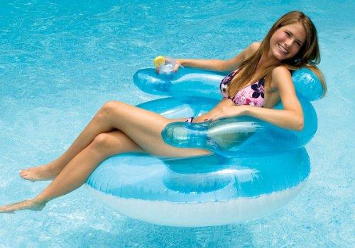 Swimline Bubble Chair Pool Float Lounge Chair