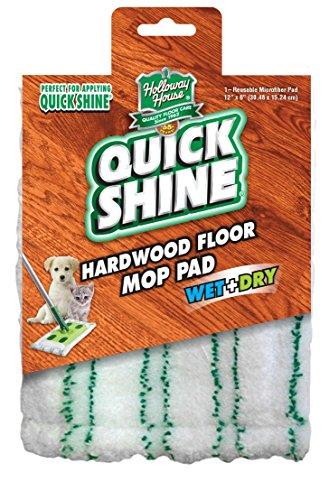 (Quick Shine Hardwood Floor Cover Refill Mop Pad, White)