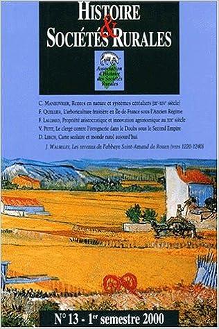 Livres gratuits Histoire et sociétés rurales, numéro 13 pdf ebook