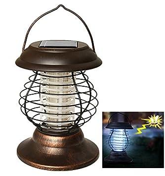 AGPtek Indoor Outdoor Wireless Solar Power Mosquito Killer UV Lamp, Insect  Pest Bug Zapper Sensor