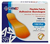 MEDca Adhesive Bandages, Flexible Fabric, All One Size 1' X 3' 100-Count Box