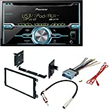 Pioneer FHX520UI Double-Din CD Player with Mixtrax and iPod Compatibility Dash Mounting Installation Kit+ Radio Antenna Adapter