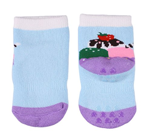 LUXEHOME YR1617 Anti Slip Grip Soles Cartoon Baby Socks