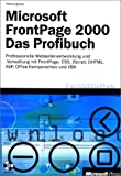 Microsoft FrontPage 2000 - Das Profibuch - reference book - CD - German