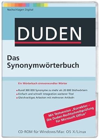 Duden Das Synonymwörterbuch Pcmaclinux Amazonde Software