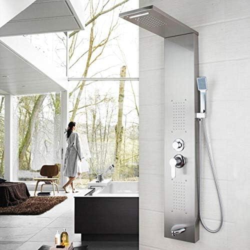 SHIJING Columna de Ducha Moderna de Acero Inoxidable para baño ...