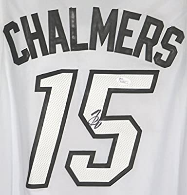 Mario Chalmers Miami Heat Autographed White with White Numbers  15 Jersey  JSA COA 8089b9ad4