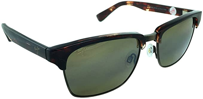 e8fdc5f3826b Image Unavailable. Image not available for. Colour: Maui Jim Kawika  MJ257-16C Polarized Sunglasses | Tortoise Antique Gold Frame | HCL Bronze