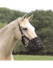 Horse Grazing Muzzle, Nylon Grass Muzzle, Easy Breathe Grazing Muzzle,Adjustable, Comfortable.(Full Size)