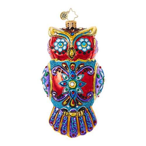 Christopher Radko Ornate Owl Halloween Christmas -