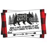 Lumberjack Diaper Raffle Tickets (50 Count) - Baby Shower...