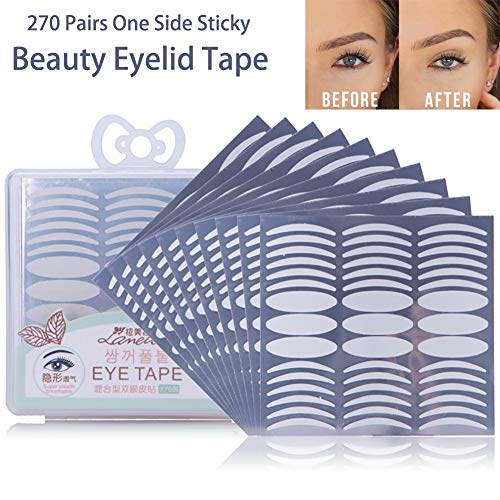 270 Pairs Invisible Beauty Eyelid Tape Instant Eyelid Lift without Surgery,Fiber,Medical Grade Latex Free Hypoallergenic,Perfect for Hooded,Droopy,Uneven,Mono-eyelids,180 Pairs Slim + 90 Pairs Wide (Surgery Eyelid Lift)