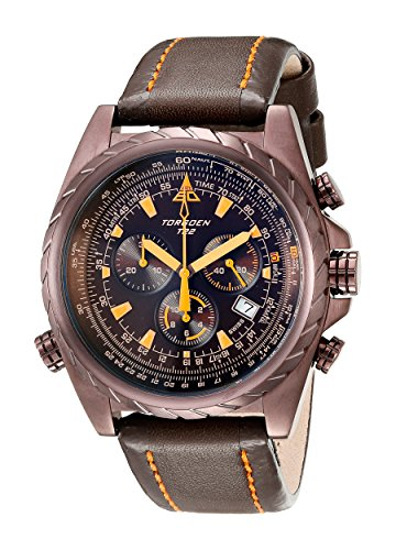 Torgoen Swiss Men's T22104 T22 Series Classic Brown Aviation Watch