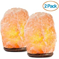 2-Pack HemingWeigh Natural Himalayan Salt Lamp