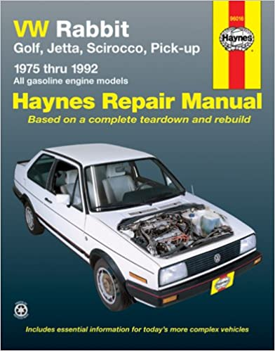 VW Rabbit, Golf, Jetta, Scirocco, Pick-up, 1975 Through 1992: All Gasoline Engine Models