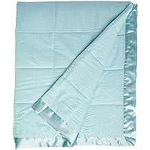 Madison Park MP51-2608 Cambria Premium Oversized Down Alternative Blanket with 3M Scotchgard Full/Queen Aqua,Full/Queen