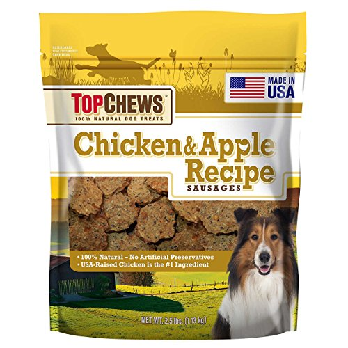 Top Chews Chicken & Apple Recipe 100% Natural Dog Treats and contain no artificial preservatives, 2.5 lb. bag ()