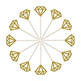 Mtlee 50 Pack Golden Glitter D