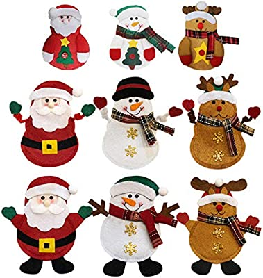 Natale Cucina Posate, 9 Pcs Natale Coltello Forchetta Cucchiaio Borsa da  Cucina Babbo Natale Pupazzo Di Neve Renna Argenteria Posate da Tavola ...