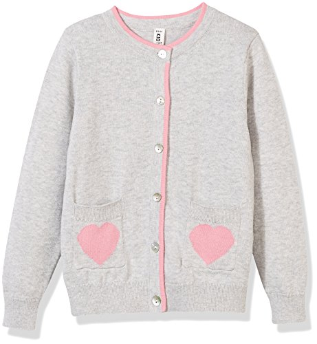 Kid Nation Girls' Lovely Long Sleeve Pocket Cardigan Sweater M - Sweater Cuff Button Cotton