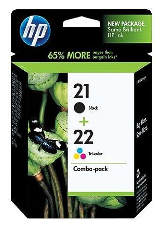 HP 21/22 Original Ink Cartridges Black/Tricolor, Pack Of 2 (C9509FN)