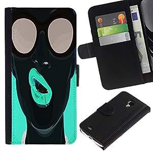 All Phone Most Case / Oferta Especial Cáscara Funda de cuero Monedero Cubierta de proteccion Caso / Wallet Case for Samsung Galaxy S4 Mini i9190 // Pop Art Neon Girl