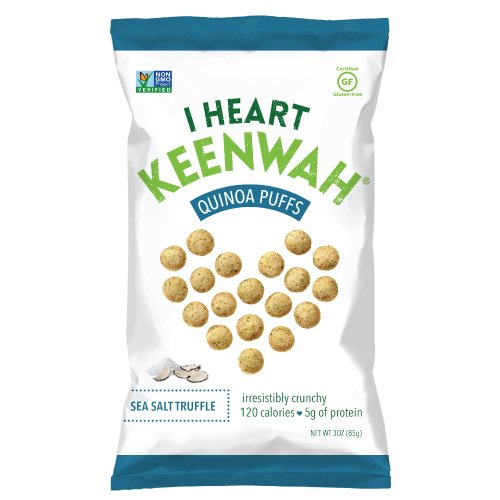 (I Heart Keenwah Quinoa Puffs, Sea Salt Truffle, 3oz, Vegan, Gluten-Free (Pack of 12))